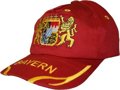 German Wear,Trachten basecap Cappe hut Bayernmuster mit gesticktem Bayerischen Wappen – Bild 5