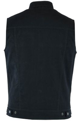 Jeans Motorcycle Vest Black