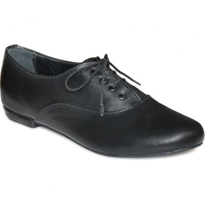 Ladies low shoe shoes made of genuine leather in black – image 2