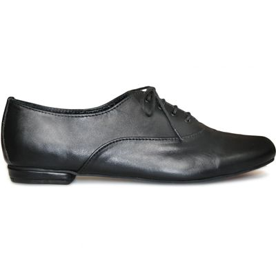 Ladies low shoe shoes made of genuine leather in black – image 3