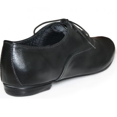 Ladies low shoe shoes made of genuine leather in black – image 4