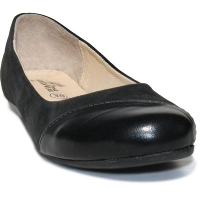 Ballerinas made ​​of genuine leather in black – image 4