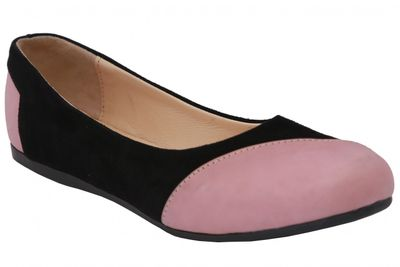 Ballerinas in black/pink