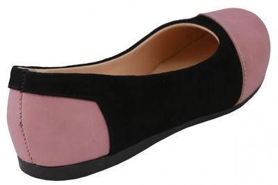 Ballerinas made ​​of genuine leather in black/pink – image 4