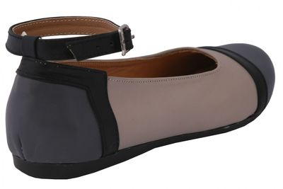 Ballerinas made ​​of genuine leather in beige/grey/black – image 4