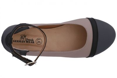 Ballerinas made ​​of genuine leather in beige/grey/black – image 7