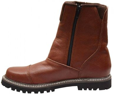 Boots shoes with zipper made of genuine cowhide leather shoes Dark Brown Boots shoes with zipper made of genuine cowhide leather shoes Dark Brown  – image 5