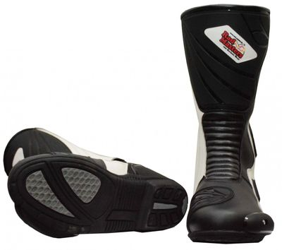 Motorbike Racing Sport Boots colour black and white – image 3