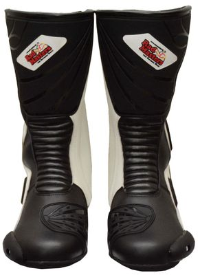 Motorbike Racing Sport Boots colour black and white – image 5