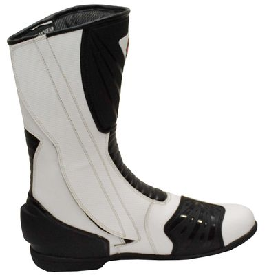 Motorbike Racing Sport Boots colour white and black – image 2