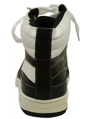 Sneakers made of cow split suede, black/white – image 4