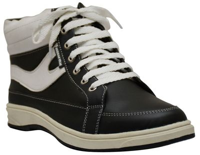 Sneakers cow split suede, black/white