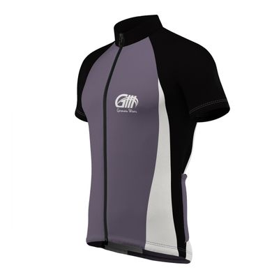 Men Cycling Short Sleeve Jersey Black/Grey/White – image 7