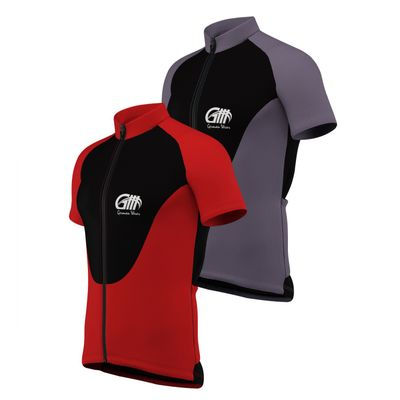 Men Cycling Short Sleeve Jersey Black/Grey/White – image 1