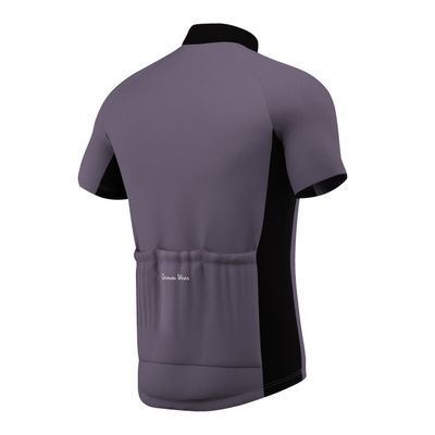 Men Cycling Short Sleeve Jersey Black/Grey/White – image 4