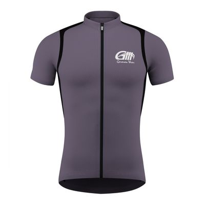 Men Cycling Short Sleeve Jersey Black/Grey/White – image 3