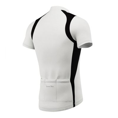 Men Cycling Short Sleeve Jersey Black/Grey/White – image 6