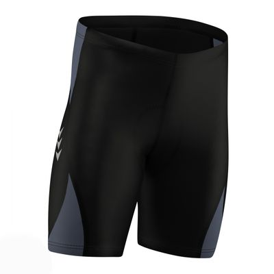 Men Cycling Short CoolMax Padded Black/Gray – image 3