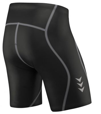 Men Cycling Short CoolMax Padded Black/Gray – image 4