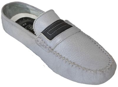 Driving moccasin moc Casual Shoes Nubuck Leather Light Grey – image 1
