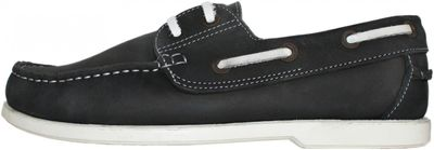 Boat Shoes made of real Cowhide,Color: Black/White – image 4