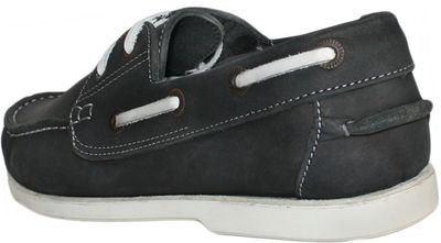 Boat Shoes made of real Cowhide,Color: Black/White – image 5