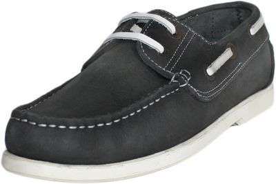 Boat Shoes made of real Cowhide,Color: Black/White – image 2