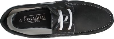 Boat Shoes made of real Cowhide,Color: Black/White – image 6