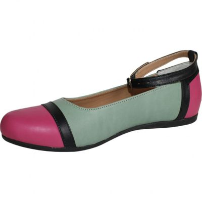 Ballerinas made ​​of genuine leather in green/brown/black – image 3