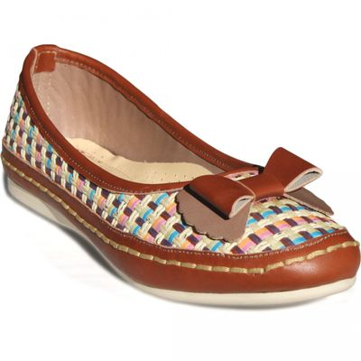 Ballerinas made ​​of genuine leather in Brown – image 2