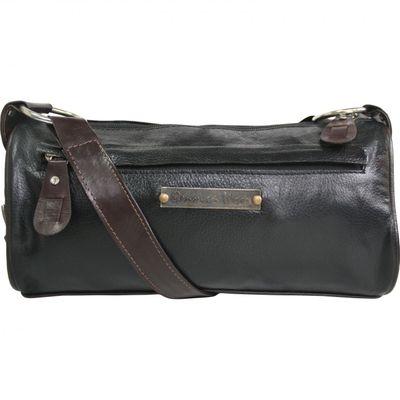 trendy Ladies Bag real Leather brown/black