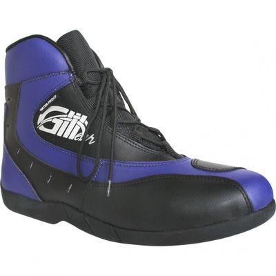 German Wear, Motorrad Trends bikers Stiefel Motorradstiefel Stiefelette Blau/Schwarz 18,5cm – Bild 5