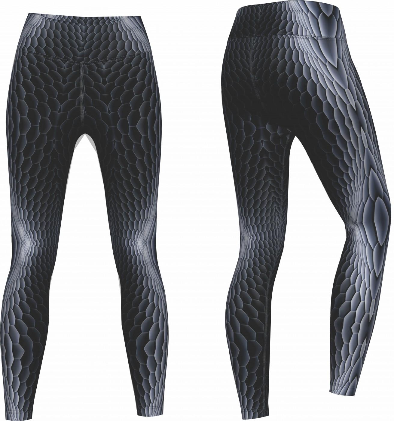 viper leggings sehr dehnbar f r sport gymnastik training fashion grau. Black Bedroom Furniture Sets. Home Design Ideas