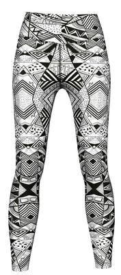 Energy Leggins for Sports, Gym & Fashion Sublimation print stretch Grey – image 1