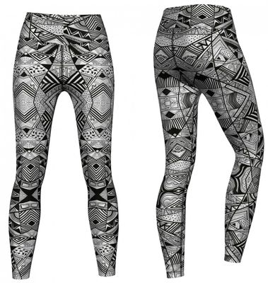 Energy Leggins for Sports, Gym & Fashion Sublimation print stretch Grey – image 2