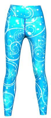 Galaxy Leggings sehr dehnbar für Sport, Gymnastik, Training & Fashion Blau – Bild 1