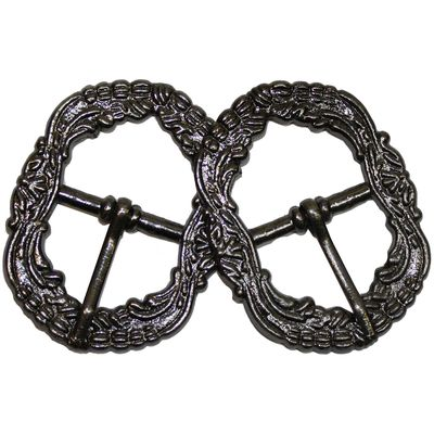 2x Decorative buckle made of Metal
