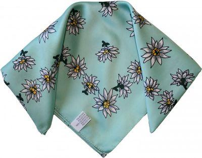 Halstuch Trachtentuch Polyester Edelweiss-muster nikituch 50x50cm 11x Farbtöne – Bild 8