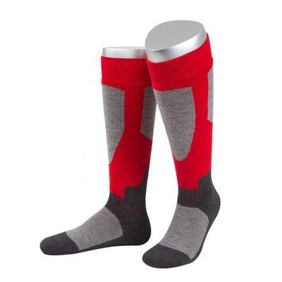 Motorbike/Ski- full plush sock made of cotton/wool in grey/black – image 3