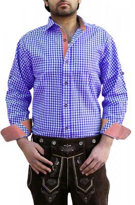 Trachtenhemd für trachten lederhosen wiesn freizeit Hemd kariert – Bild 1