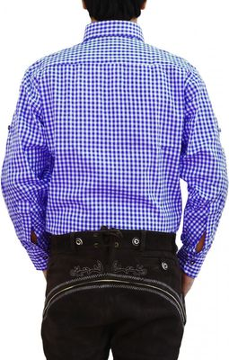 Trachtenhemd für trachten lederhosen wiesn freizeit Hemd kariert – Bild 3