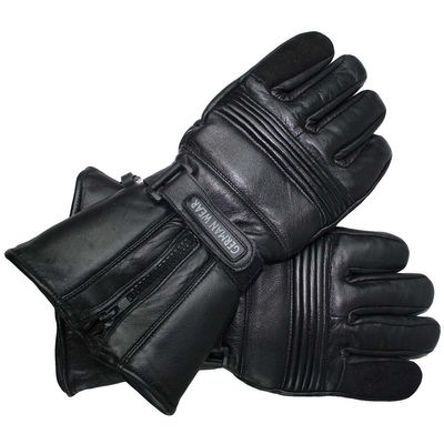 Motorbike Cowhide Gloves Black