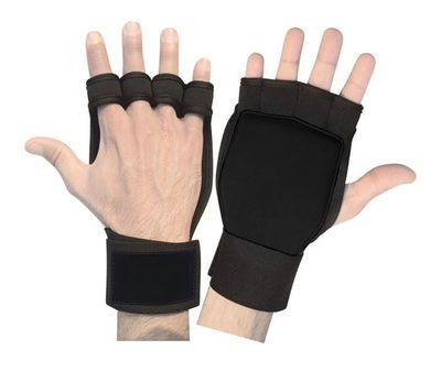 Fitness Neoprene Grips Gloves Boxing Bodybuilding Gelpads Workout Training black