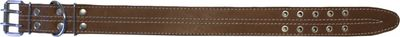 dog collar real leather 47-58cm in brown – image 1