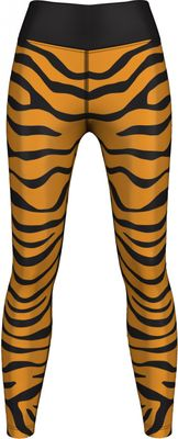 GermanWear,Leggings Tights dehnbar Sport Gymnastik Training Tanzen Freizeit Yoga ,Tiger schwarz/gelb – Bild 1