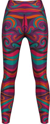 German Wear,Leggings Tights dehnbar Sport Gymnastik Training Tanzen Freizeit Yoga Batik lila/pink/orange – Bild 1