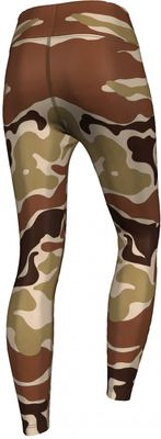 German Wear, Leggings Tights dehnbar für Sport,Gymnastik,Training,Yoga,Tanzen, Camo  Beige/Braun – Bild 2