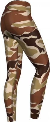 German Wear, Leggings Tights dehnbar für Sport,Gymnastik,Training,Yoga,Tanzen, Camo  Beige/Braun – Bild 3