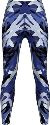 German Wear,Leggings dehnbar Sport,Gymnastik,Training,Yoga,Tanzen,Freizeit Blue Camo Angular – Bild 1