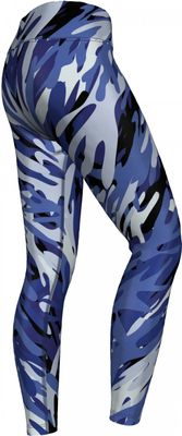 German Wear,Leggings dehnbar Sport,Gymnastik,Training,Yoga,Tanzen,Freizeit Blue Camo Angular – Bild 3